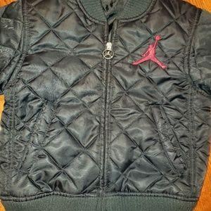 Nike size 6 black quiltedJordan jacket